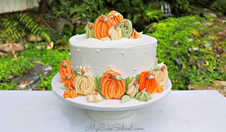Pumpkin Meringues Cake