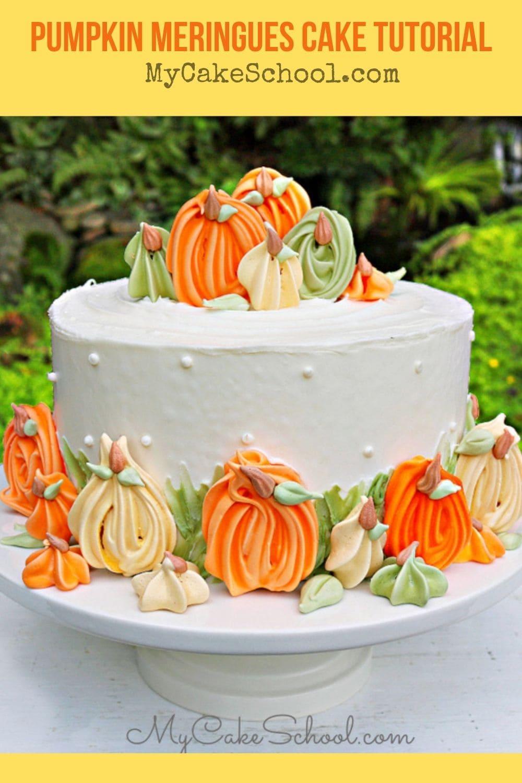 Pumpkin Meringues Cake Tutorial