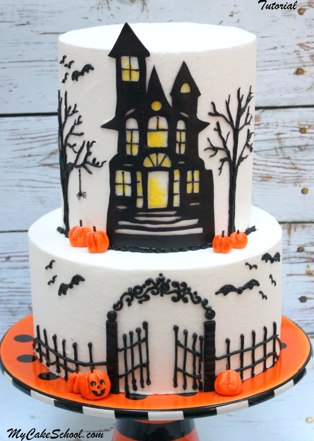 Halloween Cake Decorating Templates : How to Make a Haunted House Cake! Cake Decorating Video ...